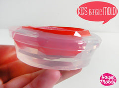 Clear silicone childrens size bangle mold
