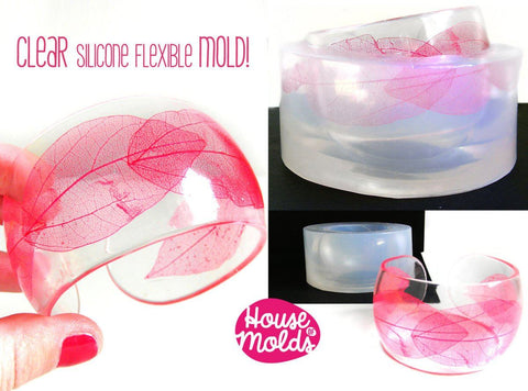Clear silicone cuff bangle mold