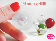 Clear silicone sphere mold QTY 2