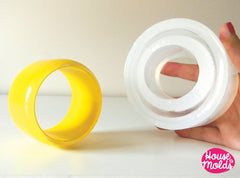 Clear silicone chunky tall bangle mold