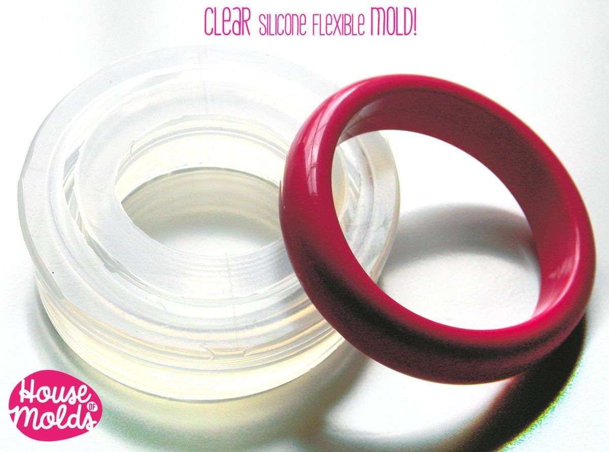 Clear silicone oval bangle mold