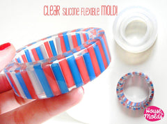 Clear silicone bangle mold