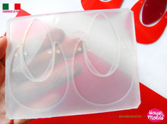 Clear silicone door knocker style earrings mold