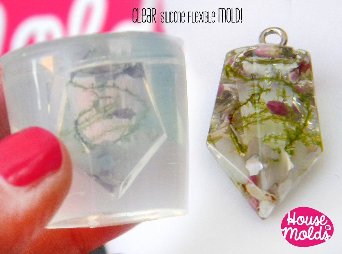 Clear silicone faceted prism mold