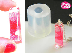 Clear silicone cylinder pendant mold