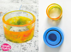 Clear silicone plain tall bangle mold