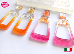 Clear silicone eight cavity earring mold