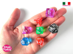Clear silicone dice molds