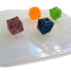 Square faceted bead reusable clear silicone mold