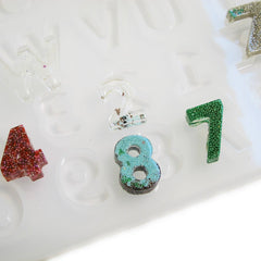 Small Alphabet Letters Numbers silicone Mold - resin jewelry