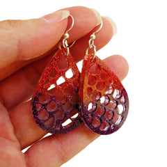 Mermaid scales earrings mold