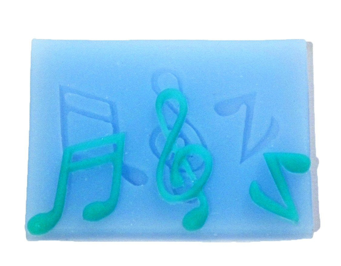 Music notes silicone mold