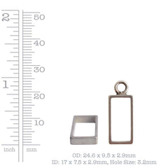 Nunn Design small open rectangle bezel