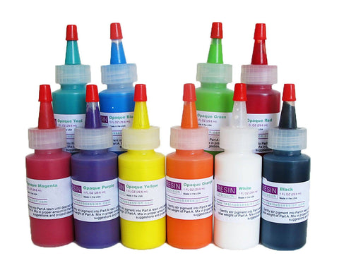 Resin Obsession opaque color pigments - complete set of ten colors