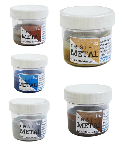 ResiMetals Metallic resin liquid pigment 1 ounce container