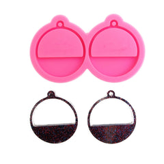 Half circle shape earrings resin mold - DIY earrings