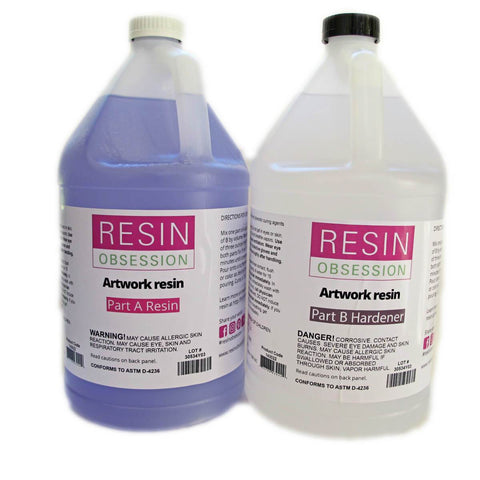 Clear artwork resin, artwork coating resin, 2 gallon kit