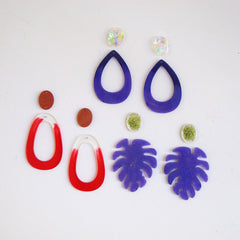 Resin chandelier earrings silicone mold - multiple design combinations