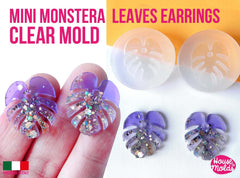 Clear silicone monstera leaves earring mold mold - make matched pair leaf earrings