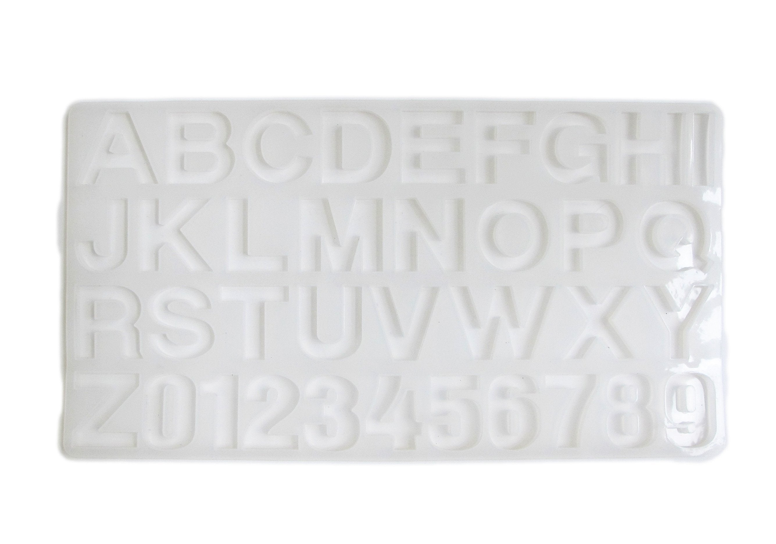 Silicone Alphabet Letters Numbers Mold - large resin letters