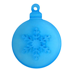 Christmas ball ornament with snowflake cutout silicone mold