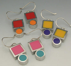 Circle and square pewter bezels