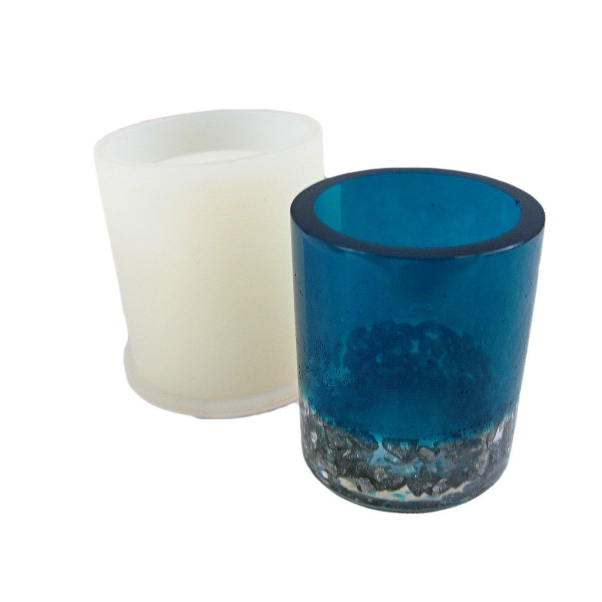 Clear silicone round vase mold - great for pencil holders