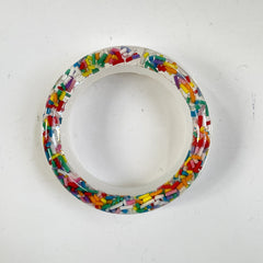 Rounded edge silicone bangle bracelet resin mold for large hands and wrists