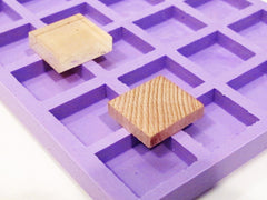 Scrabble tile size silicone mold