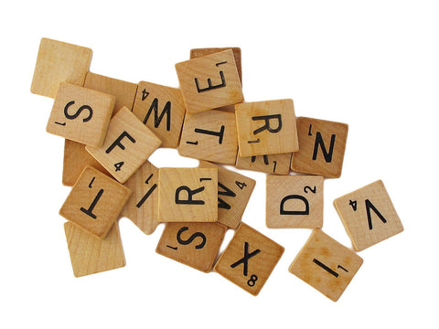 Scrabble tiles - recycled and reclaimed for your jewelry projects