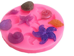 Eight seashells reusable silicone mold