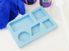 Super clear resin and geometric shapes silicone mold kit