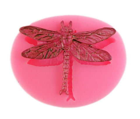 Large dragonfly reusable silicone mold