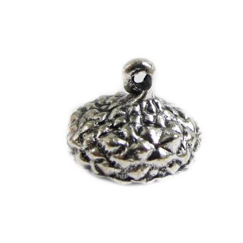Silver plated bead caps acorn shape - finish jewelry charms