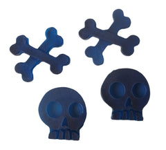 Skulls and crossbones reusable silicone mold