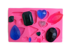 Assorted small gemstones silicone mold