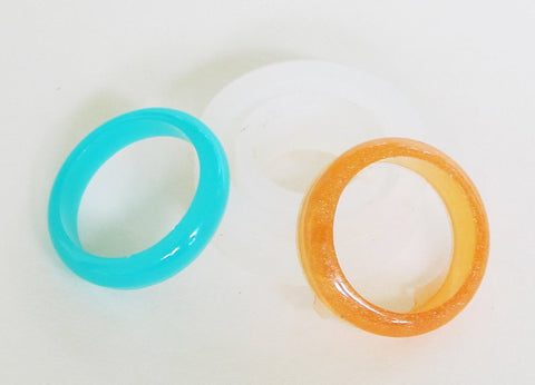 Silicone smooth band ring mold