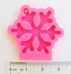 Large snowflake silicone resin mold