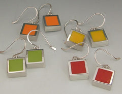 Square pewter bezels