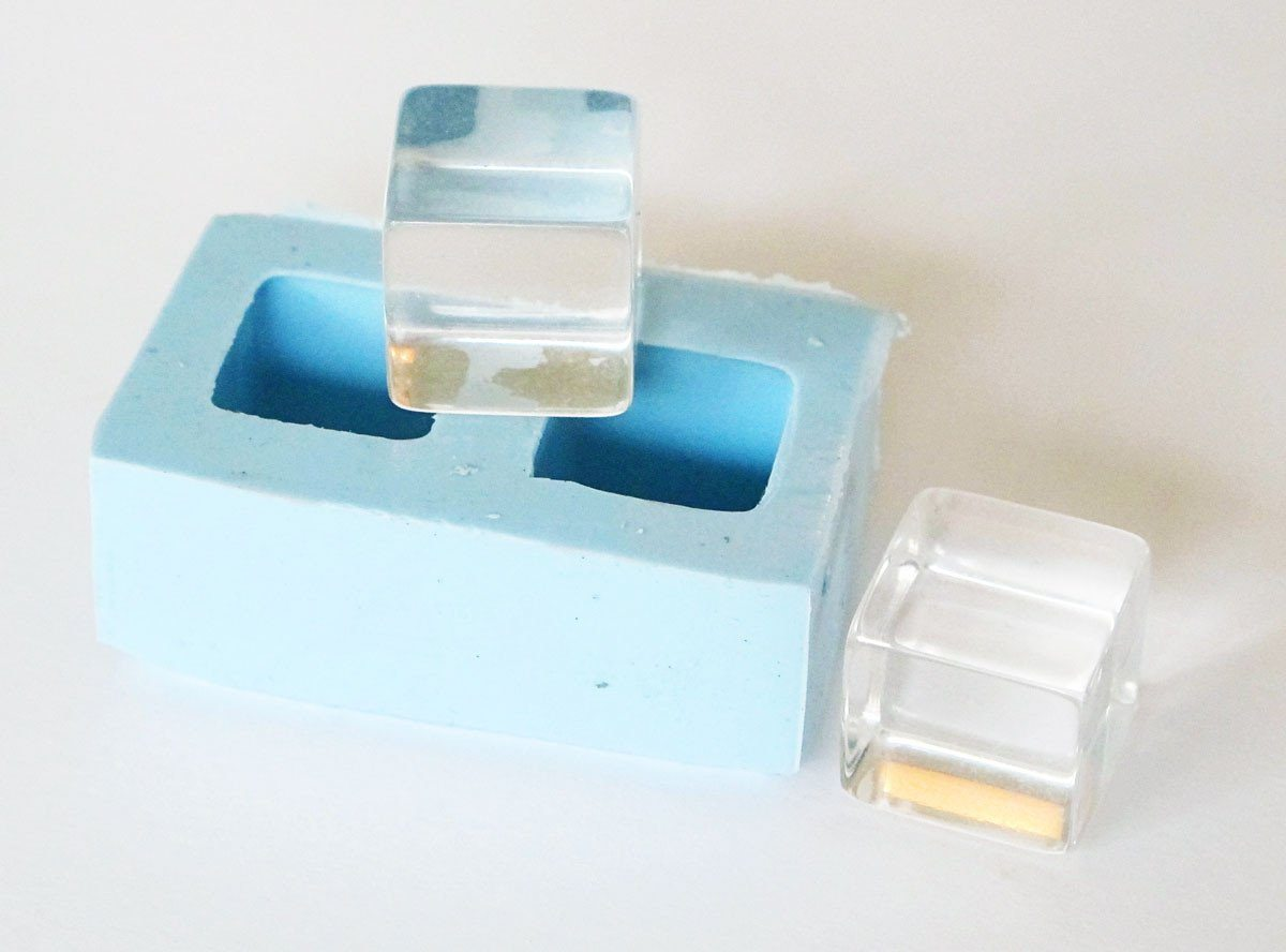 Cube pair mold 3/4 inch