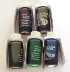 Castin' Craft Complete Transparent Liquid Dye Set of Five
