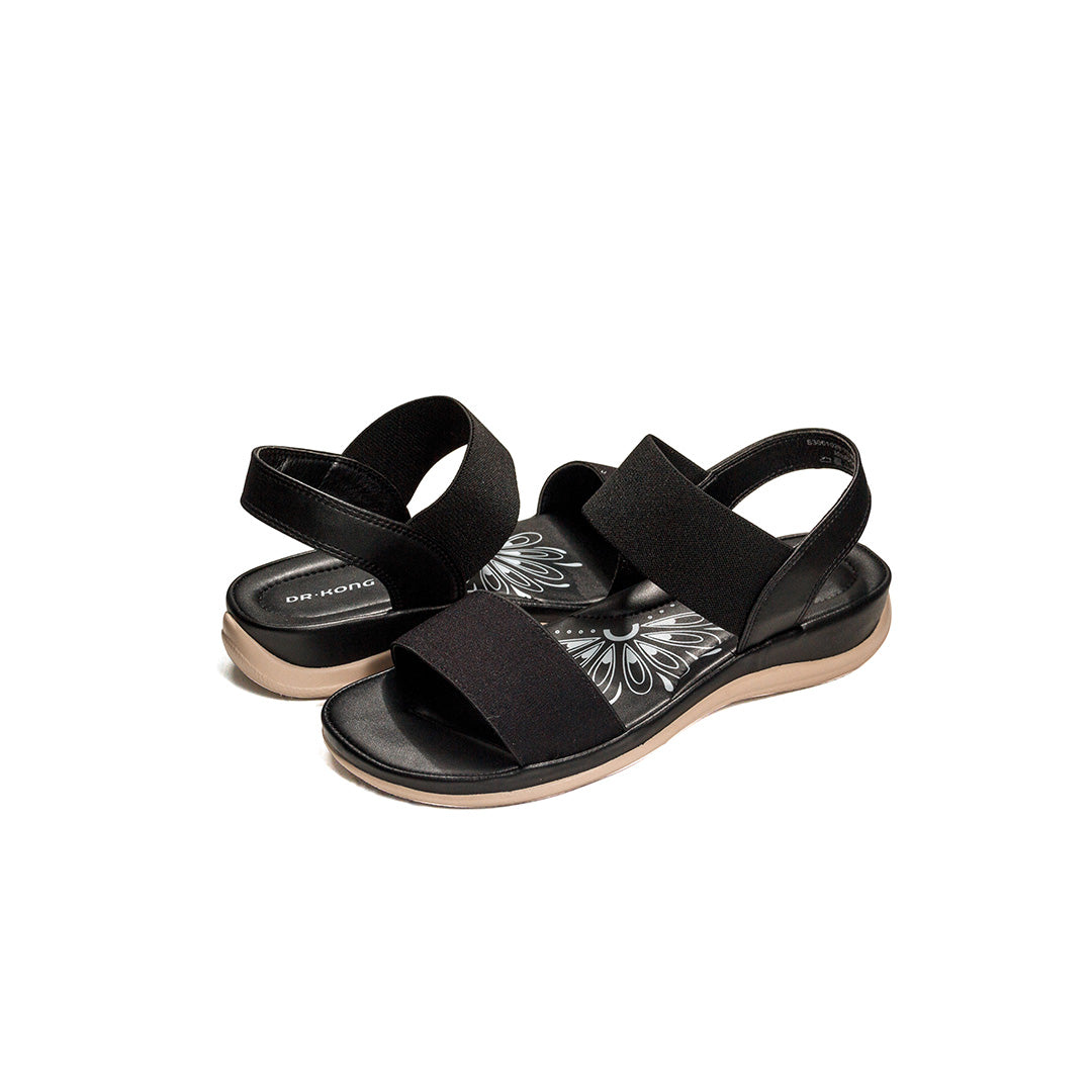 Dr. Kong Healthy Sandals with Strap (Black) S3001029