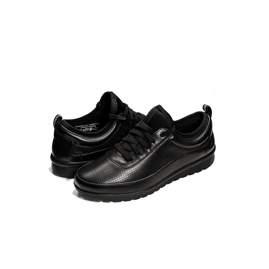 Dr. Kong Leather Womens Sneakers  (Black) W5000883