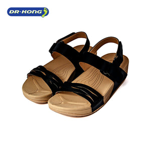 Open image in slideshow, Dr. Kong Healthy Sandals with Strap (Black) S3001033