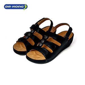 Open image in slideshow, Dr. Kong Healthy Sandals with Strap (Black) S8000219