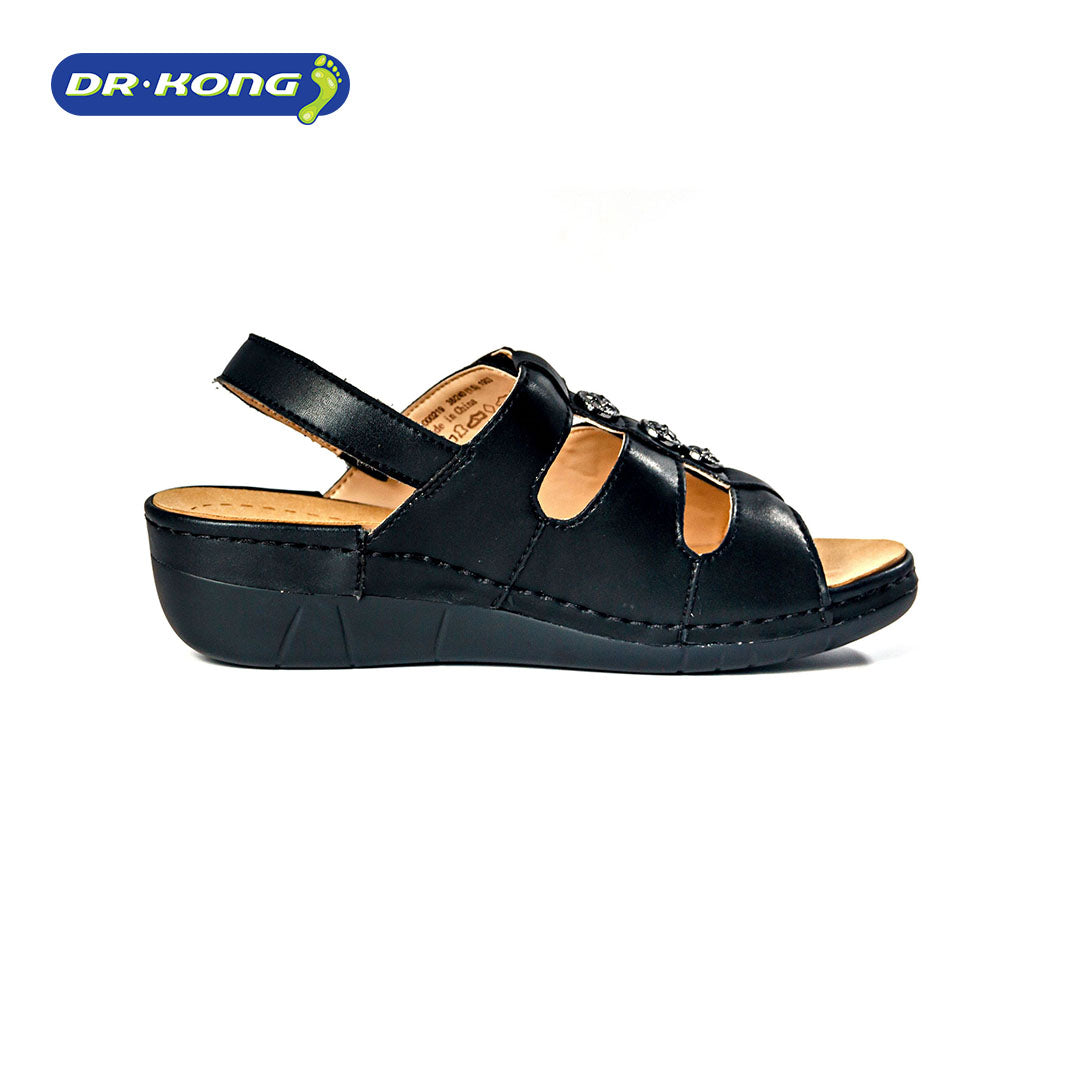 Dr. Kong Healthy Sandals with Strap (Black) S8000219