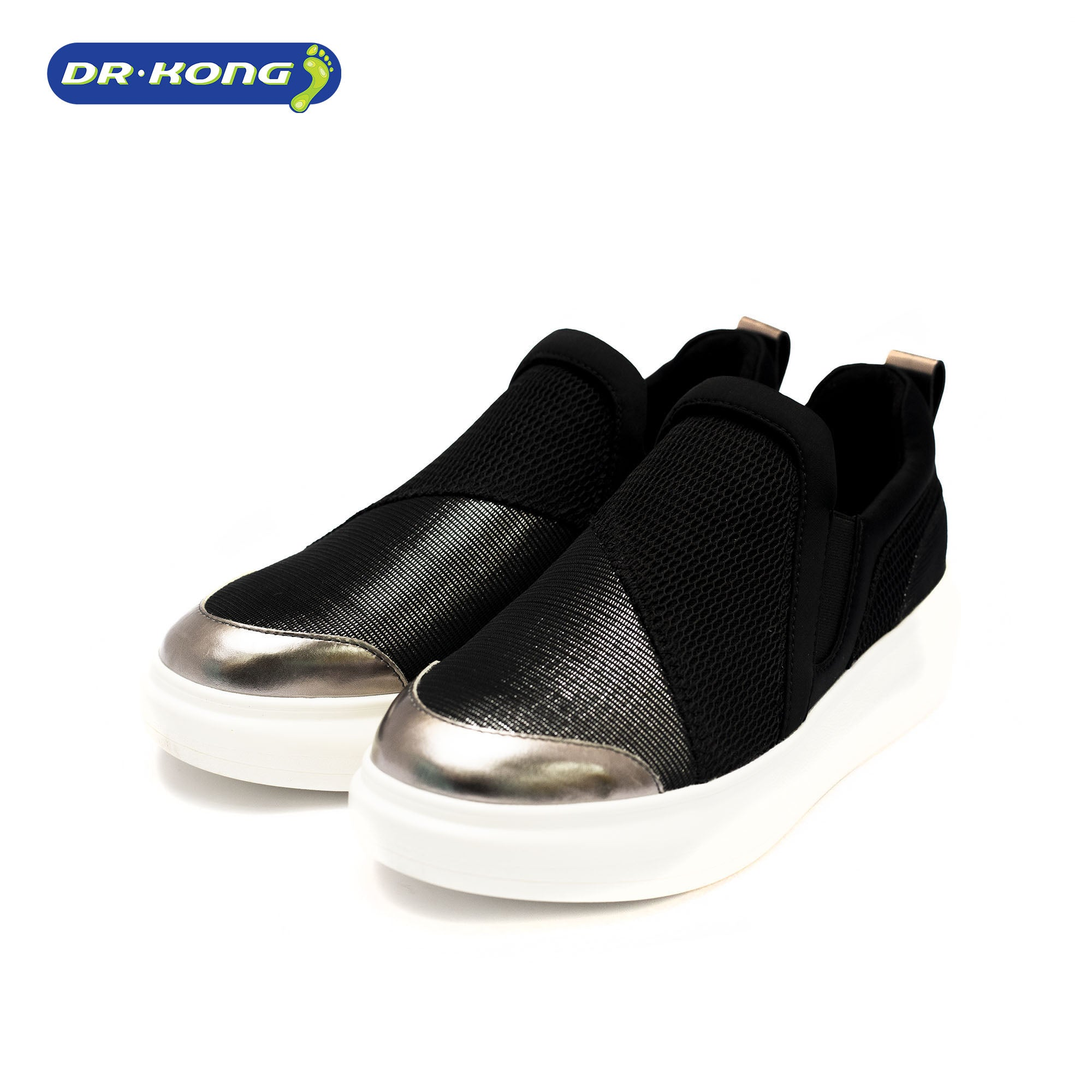 Dr. Kong Healthy Slip On (Black Metallic) w5000013