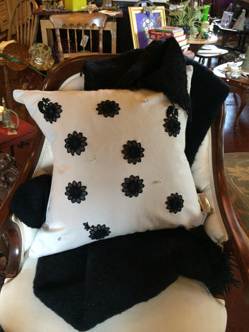 Antique Appliqué & Vintage Button Pillow