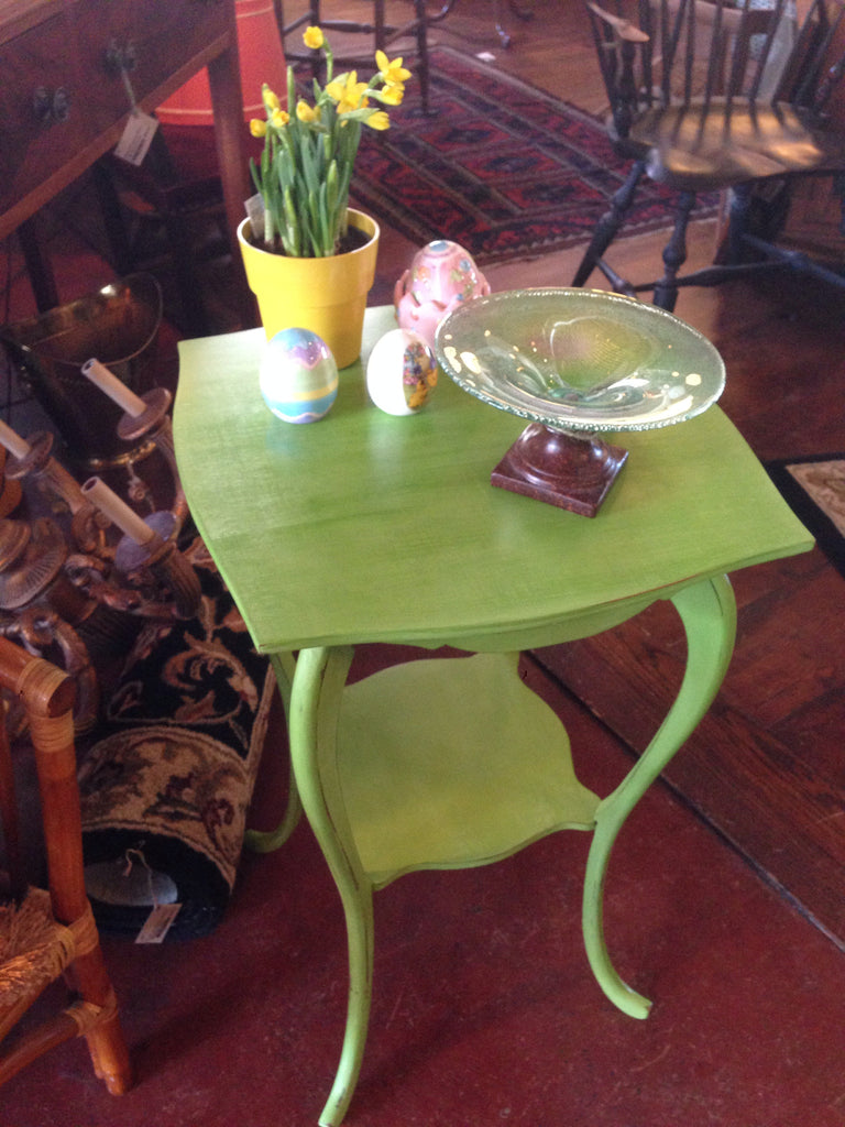 Apple Green Vintage Side Table