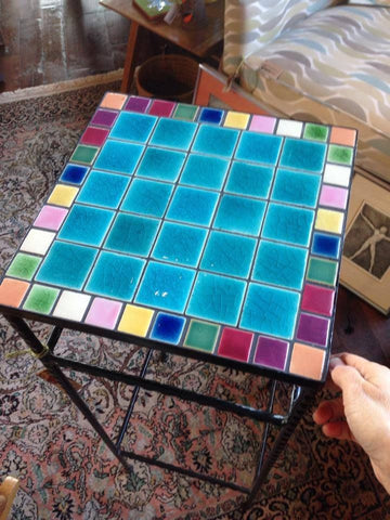 Colorful Tile Top Table